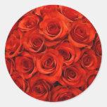 Autocollants de joint d'enveloppe de rose rouge