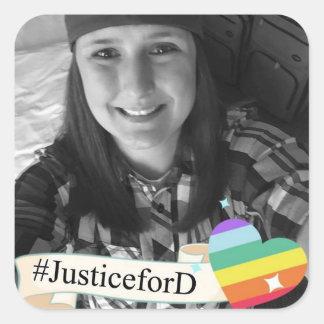 Autocollants de #JusticeForD