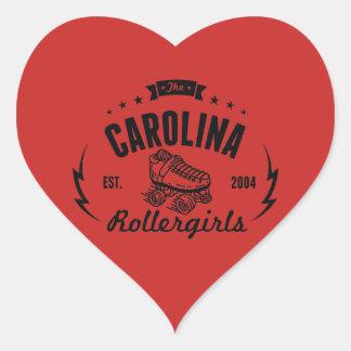 Autocollants de la Caroline Rollergirls