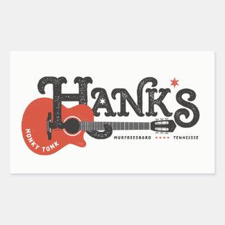 Autocollants de la guitare de Hank