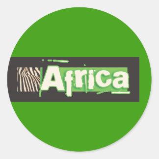 Autocollants de l'Afrique de zèbre
