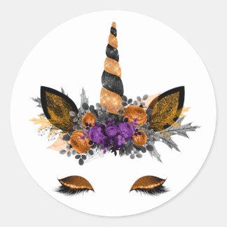 Autocollants de licorne de Halloween