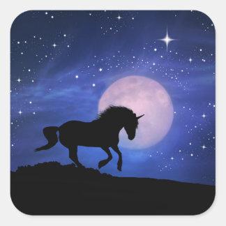 Autocollants de licorne et d'étoiles