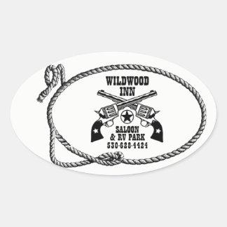 Autocollants de logo d'auberge de Wildwood