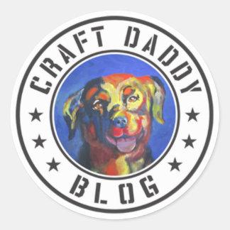 Autocollants de logo de blog de papa de métier