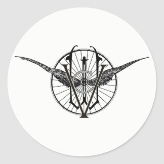 Autocollants de logo de club de roue du Vermont