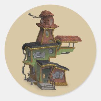 autocollants de maison hantés par steampunk
