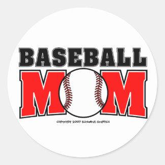 Autocollants de maman de base-ball
