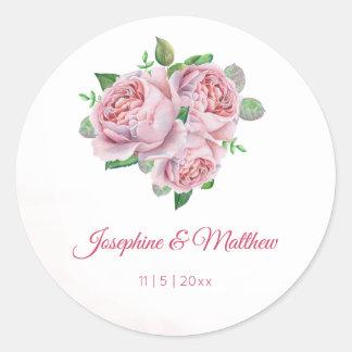 Autocollants de mariage d'aquarelle de bouquet de
