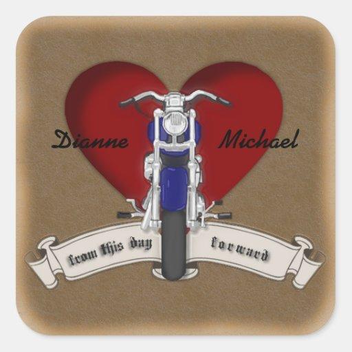 Autocollants de mariage de tatouage de moto de