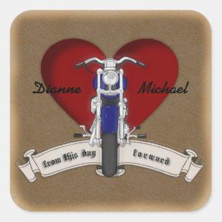 Autocollants de mariage de tatouage de moto de Tat