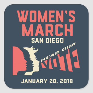 Autocollants de mars San Diego des femmes