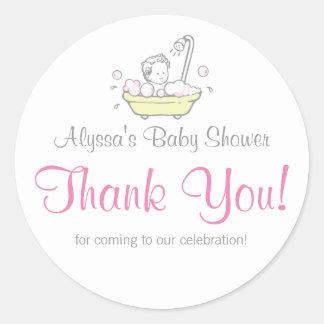 Autocollants de Merci de baby shower de bain