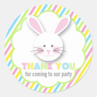 Autocollants de Merci de lapin de Pâques