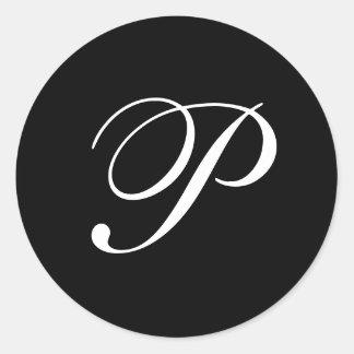 Autocollants de monogramme de P