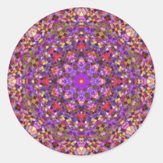 Autocollants de motif de style de tuile, 7 formes