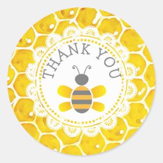 Autocollants de nid d'abeilles de Merci d'abeille