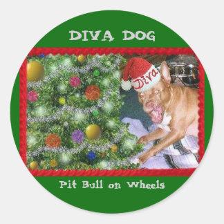 Autocollants de Noël de CHIEN de DIVA