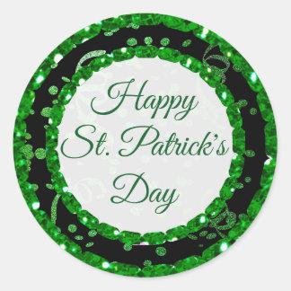 Autocollants de noir de vert du jour de St Patrick