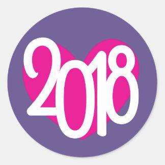Autocollants de nouvelle année de l'amour 2018