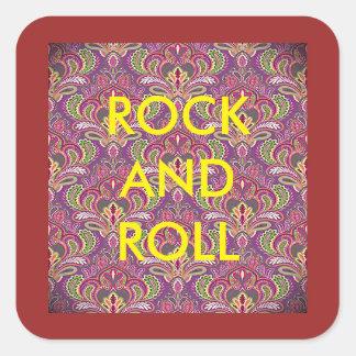Autocollants de Paisley de rock