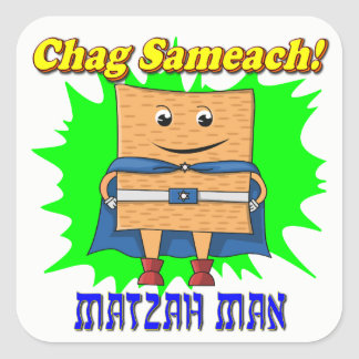 Autocollants de pâque d'homme de Matzah