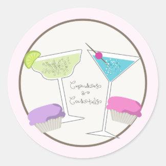Autocollants de petits gâteaux et de cocktails