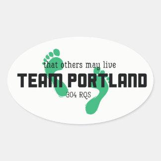 Autocollants de Portland d'équipe