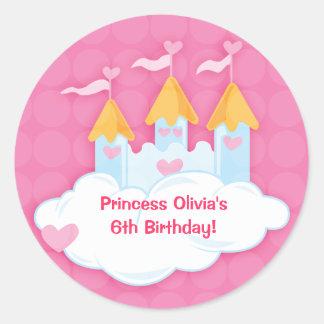 Autocollants de princesse Castle Custom Birthday