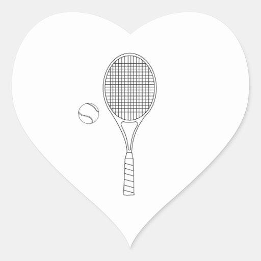 Autocollants de raquette de tennis et de dessin zazzle - Dessin raquette ...