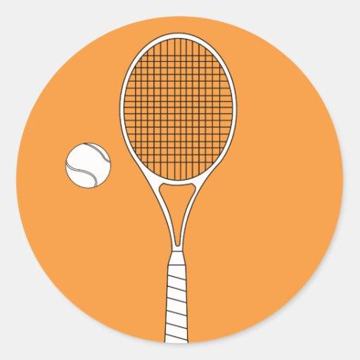 Autocollants de raquette et de boule de tennis