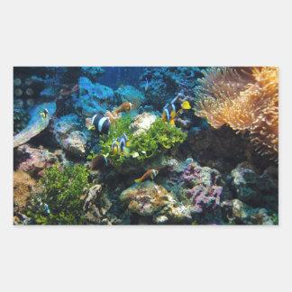 Autocollants de récif coralien