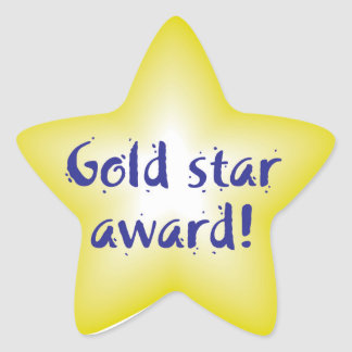 Autocollants de récompense d'étoile d'or