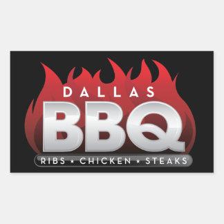 Autocollants de rectangle de BBQ de Dallas