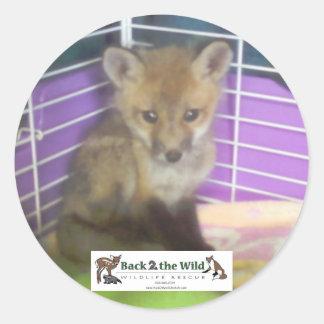autocollants de renard de bébé