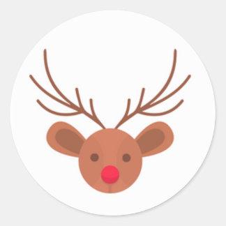 Autocollants de renne de Rudolph de Noël