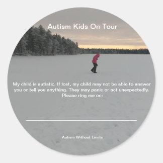 Autocollants de sécurité d'autisme