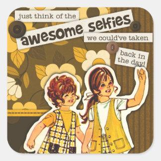 """Autocollants de Selfie """"d'art de couture de motif"""