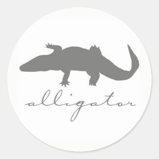 Autocollants de silhouette d'alligator