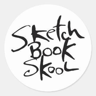 Autocollants de Skool de carnet à dessins