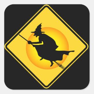 Autocollants de sorcière de précaution de