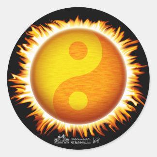Autocollants de symbole de flamber Yin Yang Sun