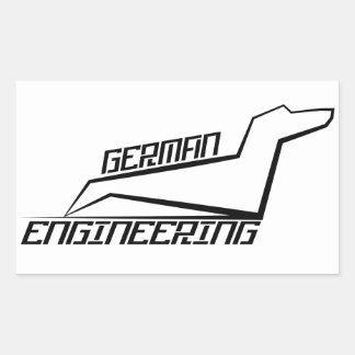 Autocollants de teckel de rectangle - ingénierie