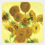 Autocollants de tournesols de Van Gogh