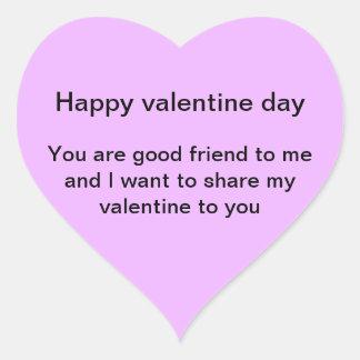 Autocollants de Valentine