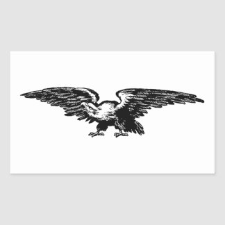 Autocollants d'Eagle chauve d'illustration de