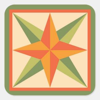 Autocollants d'édredon - étoile biseautée