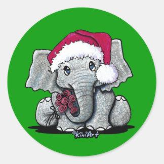Autocollants d'éléphant de Père Noël