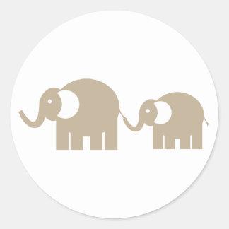 Autocollants d'éléphants de Taupe