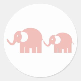 Autocollants d'éléphants roses